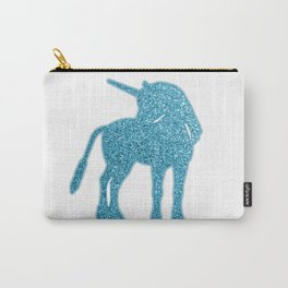 Giltter Unicorn - tuequoise blue Carry-All Pouch