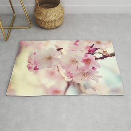 cotton candy flowers Rug
