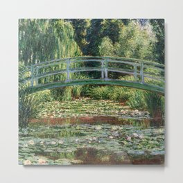 The Japanese Footbridge and the Water Lily Pool by Monet Metal Print