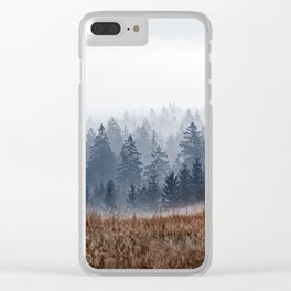 Lost In Fog Clear iPhone Case