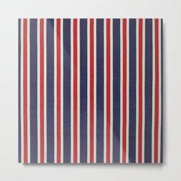 De rayas azules y rojas Metal Print