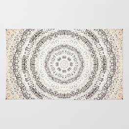 Vintage Ancient Words Mandala Rug