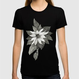 Florida Flower with Green Background T-shirt