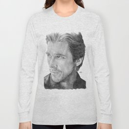 Christian Bale Traditional Portrait Print Long Sleeve T-shirt