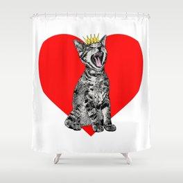 Kitty Heart Shower Curtain