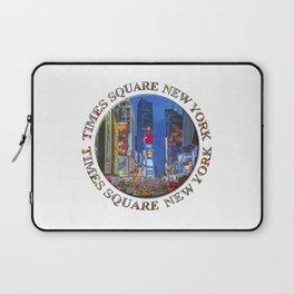 Times Square New York Badge Emblem Laptop Sleeve