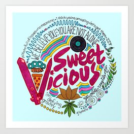 Sweet/Vicious Art Print