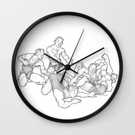 Wrestling Brothers: Quins Wall Clock