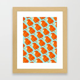 Popsicle Pattern - Creamsicle Framed Art Print