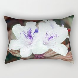 WHITE BLOSSOM - Rhododendron Rectangular Pillow