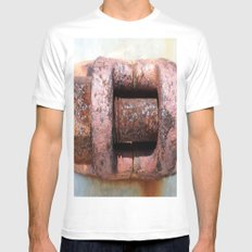 RUST Mens Fitted Tee White MEDIUM