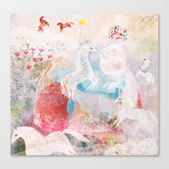 Chevaux Canvas Print