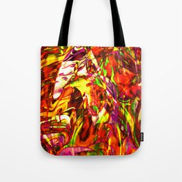 Fluid Painting (Yellow Version) Tote Bag
