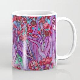 Vincent Van Gogh Irises Painting Cranberry Purple Palette Coffee Mug