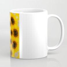 Sunflower and Bee Abstract Mug