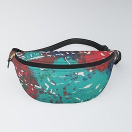 Abstracted Wolf and Kitten Fanny Pack