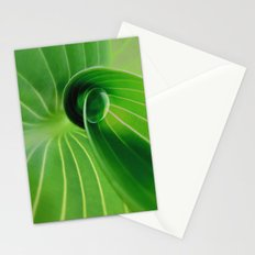 Leaf / Hosta with Drop (2) Stationery Cards