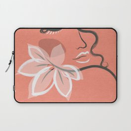 abstract girl with flower. beauty fashion illustration Laptop Sleeve