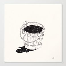 bucket of milk Canvas Print