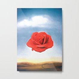 Salvador Dali - Meditative Rose - 1958 Restored Artwork for Wall Arts, Prints, Posters, Tshirts, Men, Women, Kids Metal Print