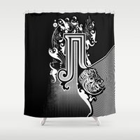 pi Shower Curtains featuring PI by Artysmedia