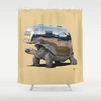 sneaker Shower Curtains featuring Pimp My Ride (Colour) by rob art | illustration