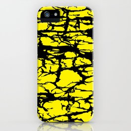 Yellow and Black Interlace iPhone Case