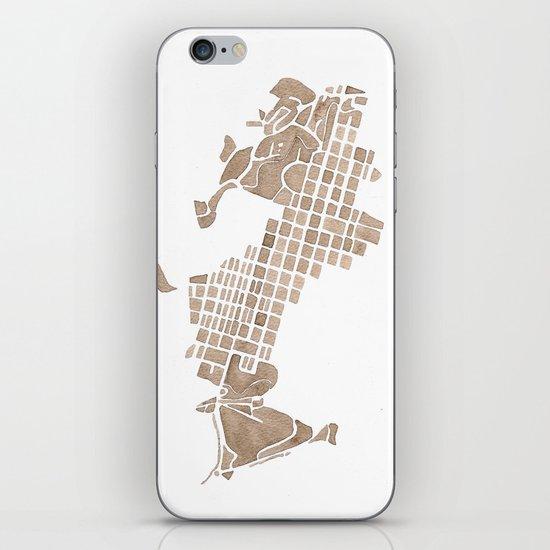 Aspen Colorado watercolormap iPhone & iPod Skin