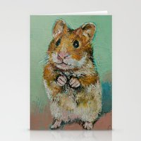 hamster Stationery Cards featuring Hamster by Michael Creese