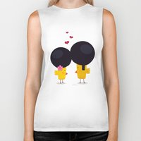 afro Biker Tanks featuring Afro Love by Piktorama