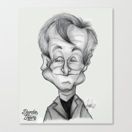 Robin Williams caricature Canvas Print