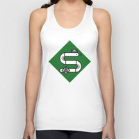 slytherin Tank Tops featuring Slytherin House Crest by Manuja Waldia