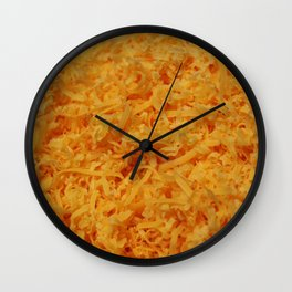 Grated Cheddar Cheese Wall Clock