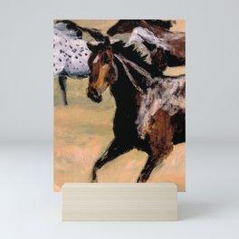 Galloping Horse Close-Up Mini Art Print