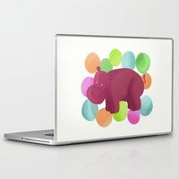 hippo Laptop & iPad Skins featuring Hippo by Katy Welte