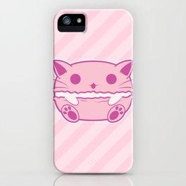 Pink Kawaii Cat Macaroon iPhone Case