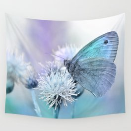Butterfly blue 71 Wall Tapestry