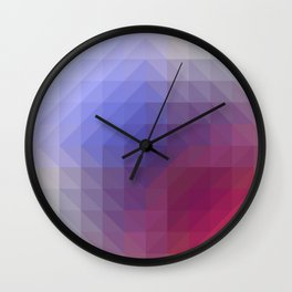 Blend Pixel Color 4 Wall Clock