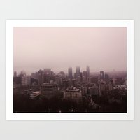 montreal Art Prints featuring Montreal by The Yellow Loops