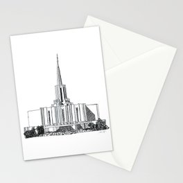 Jordan River LDS Temple Stationery Cards