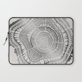Growth Rings – 65 Years – Silver Laptop Sleeve