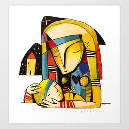 Mother and Child - Home Art Print