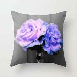 Flowers Lavender Periwinkle Pop of Color Throw Pillow