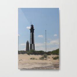 Short And Tall Cape Henry Lights Metal Print