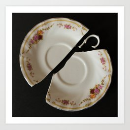 Tea Plate Art Print