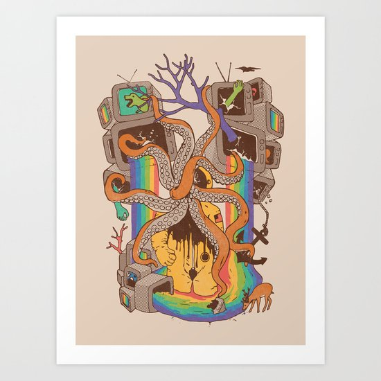 A Fragmented Reality Art Print
