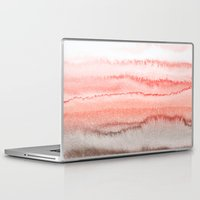 coral Laptop & iPad Skins featuring WITHIN THE TIDES CORAL DAWN by Monika Strigel