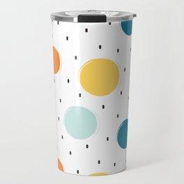 cute colorful pattern with grunge circle shapes Travel Mug