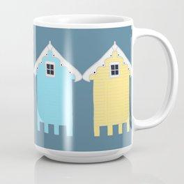 British Seaside Beach Huts Coffee Mug