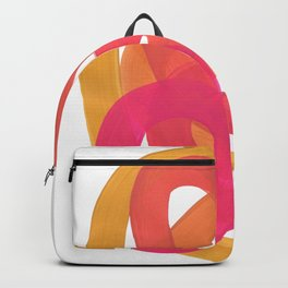 Warm Candy Colors Magenta Yellow Nesting Circles Ombre Backpack
